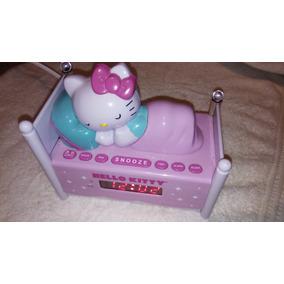 Radio Reloj Despertador Con Luz Nocturna Y Hello Kitty