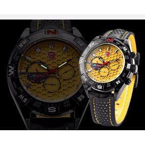 Reloj Deportivo Shark Sport Color Amarillo Y Negro Original