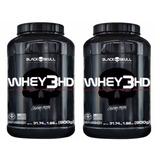 Combo 2x Whey Protein 3hd Caveira Preta (900g) - Black Skull