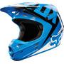 Capacete Fox V1 Race Azul 55-56cm Pequeno Cross Mx Trilha