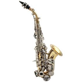 Saxofone Custom Soprano Curvo Dois Tons Sib + Estojo . Loja