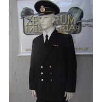 Uniforme Farda Negra Capitao Russo Marinha Tam:gg Completo