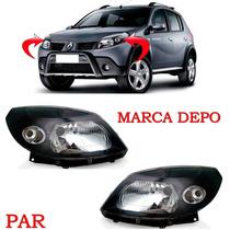 Par Farol Sandero Mascara Negra Ano 2008 2009 2010 2011 Depo