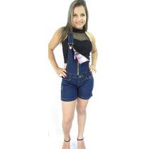 Macaquito Macacão Jeans Original Levanta E Modela Bumbum