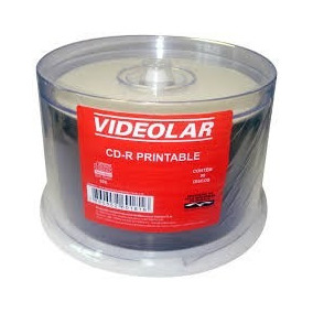 50 Cd-r Printable 1x-52x 700mb Videolar No Tubo Lacrado!