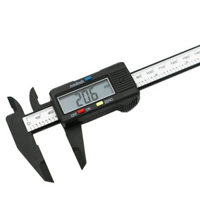 Calibrador Vernier Pie De Rey Digital Fibra De Carbono 150mm