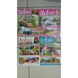 Revista Pintura Em Tela Pintar Quadros Kit Com 9 Exemplares.