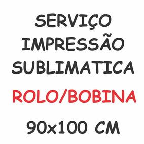 Impressão De Papel Sublimático Sublimação 10 Metros 90x100cm