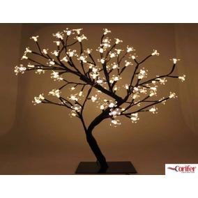 Arvore De Natal Cerejeira Branco Quente Led Linda Papai Noel
