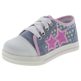 Tênis Infantil Feminino Star Jeans/rosa D