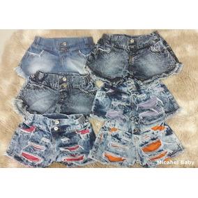 Kit Com 5 Short Jeans Infantil Atacado Revenda Baratofábrica