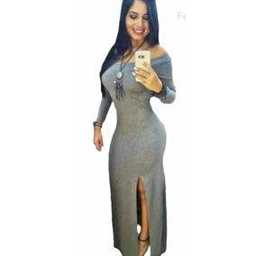 Vestido Longo Ciganinha Com Fendas. Ref:15145