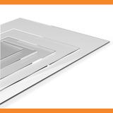 Chapa Placa De Acrílico Transparente 2mm - 50 Cm X 100 Cm