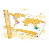 Mapa Mapamundi Para Raspar Planisferio Scratch Map