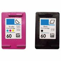 Cartucho Hp 60 Preto + Color F4280 F4480 C4288 C4680 D110 S