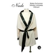 Kit Robe Bege Nude Com Shorts Doll Preto - Tamanho Gg