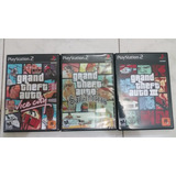 3 Juegos Originales Ps2, Gta San Andreas, Vice City Y Gta 3