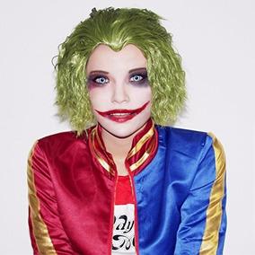 Peluca De Joker Guason Cosplay Damas Adultos