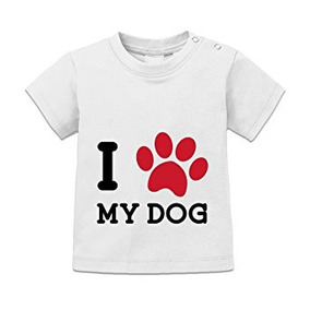 Shirtcity Huella Del Bebé I Corazón Mi Camiseta Del Perro