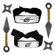 Cosplay Naruto 1 Banda Hoja + 1 Itachi + 2 Kunai +2 Shuriken