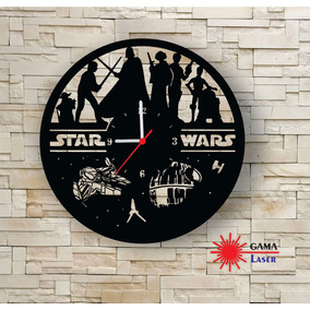 Relógio Gama Laser - Relógio Decorativo Star Wars