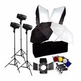 Kit Fotografico Estudio Iluminacion 540w Flash Strobos 540w.