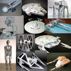 Modelos De Papel Satar Wars, Star Trek, Mario Bros, Nintendo