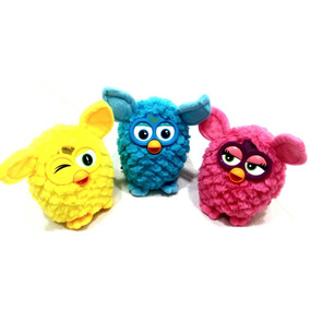 Boneco Furby Brinquedo Infantil, Amarelo, Azul, Rosa