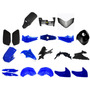 Kit De Plasticos Yamaha Fz 16 20 Piezas Azul - Motor Crue