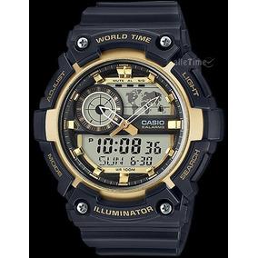 Casio World Time Aeq200w. Análogo Digital Nuevo Y Original