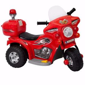 Mini Moto Elétrica Infantil Triciclo Criança Policia Menino