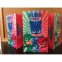 Pack Cotillon Personalizado Pj Masks Heroes En Pijamas P/20