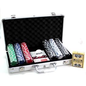 Maleta Poker Profissional 300 Fichas + Texa Holdem Copag P