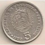 _ Venezuela Bs 5 De 1977