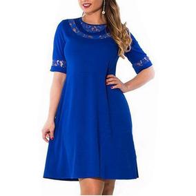 Vestido Azul L (ropa Tallas Grandes)