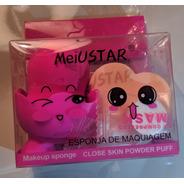 Kit 2 Esponja C/suporte Para Maquiagem Pó E Base - Meiustar