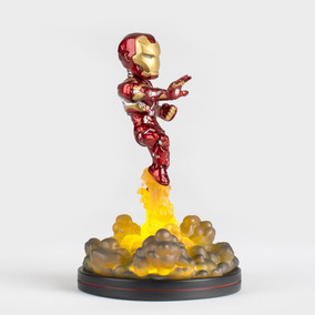 Q Fig Marvel Iron Man Súper Héroes Figura Con Luz Avengers