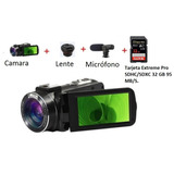 Video Camara Semi Profesional Ordro Hdv-z82 + Lente + Microf