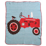 Green 3 Throw Blanket, Tractor