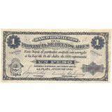 Banco Hipotecario Buenos Aires 1891 Un Peso 1 $ Ps 615 Raro