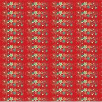 Toalha De Mesa 1,00x1,00 Estrela Do Natal Vermelho