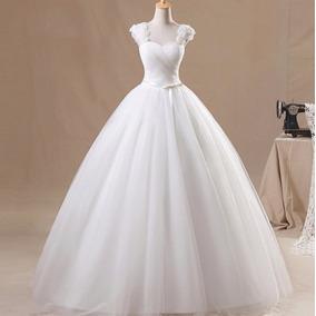 Vestido Noiva Princesa Com Alças E Laço Casamento Importado