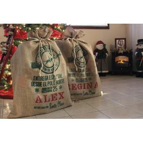 Costal De Santa Claus Para Regalos De Navidad Con Nombre