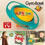 Gyro Bowl- Derrame Niños Resistentes Giroscópico Cuenco Con