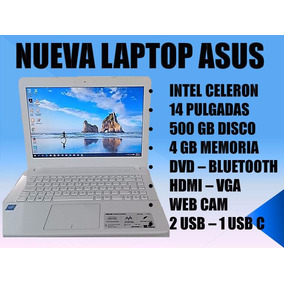 Laptop Nueva Asus Intel Celeron/14 Pulg/4 Gb/500 Disco/dvd