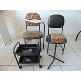 Kit Manicure- Cadeiras,carrinho,apoio Pe