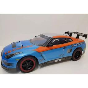 Carrinho Controle Remoto Nissan Gt-t Azul Corrida 25km