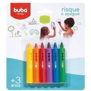 Risque Apague Brinquedo De Banho Para Azulejos Kit 6 Lapis Coloridos Para O Bebe Crianca Desenhar Rabiscar Buba Baby.