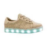 Tropicana Tenis Luces Led Luminosos Dorado 15 A 17.5