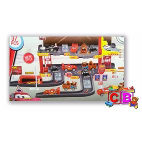 Kit Pista + Elevador Carros 2 Disney Mcqueen 29 E 37 Pçs